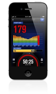 Mobile App: Tracks in real-time on your Bluetooth® Smart mobile device: Heart Rate Calories Intensity WILLpower™