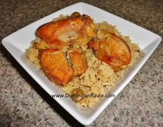 Dominican style Chicken with Rice/Locrio de Pollo Dominicano | Delicious Dominican Cuisine