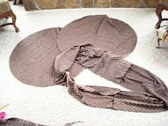 making a slip cover for a bean bag chair