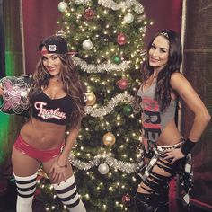 """Have a very #Bella holiday season! @thebriebella  and @thenikkibella are up on #Raw...NEXT! #WWE"""