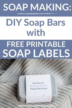 Easy Melt and Pour Soap Recipes: DIY Charcoal and Clay Facial Bar Soap with Essential Oils - you can make 12 bars in a hour! Unique Gifts For Girls, Novelty Gifts For Men, Gifts For Teens, Facial Bar, Soap Labels, Homemade Gifts, Diy Gifts, Homemade Products, Free Gifts