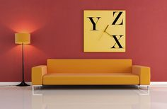 Canvas clock with alphabets