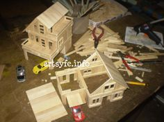 popsicle stick crafts for adults Popsicle Stick Crafts For Adults, Popsicle Stick Houses, Popsicle Crafts, Craft Stick Crafts, Wood Crafts, Craft Sticks, Fun Crafts, Custom Woodworking, Woodworking Projects Plans