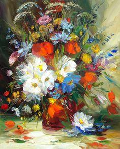 Alexander Sergeev 1968 | Flowers Russian painter ~ via http://marialaterza.blogspot.com/2012/02/alexander-sergeev-1968-flowers-russian.html