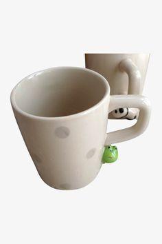 Cute Panda And Frog Ceramic Mug
