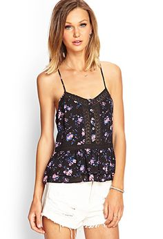 Woven Floral Lace Cami | FOREVER 21 - 2000067580