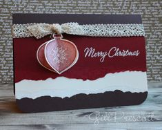 Delightful decorations Christmas card for 52 Christmas Card Throwdown challenge Winter Christmas, Christmas Lights, Christmas Decorations, Stampin Up Christmas, Christmas Cards, January Colors, Stamping Up, Stampin Up Cards, Merry