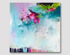Original abstract painting modern fine art acrylic by ARTbyKirsten
