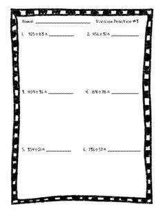 math worksheet : long division practice packet with 2 digit divisors  division  : 2 Digit Divisor Division Worksheets