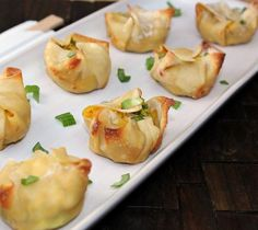 Healthy Baked Crab Rangoon - ONLY 41 CALORIES EACH! Holy moly!