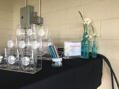 2017   This year's event favor was a shatterproof, branded wine glass! We branded them with a customized event logo, and let people claim them by writing their name with our special markers!