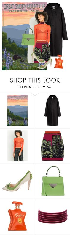 """Spring in the mountains"" by denibrad ❤ liked on Polyvore featuring Vetements, Light Before Dark, M Missoni, Tod's, Coccinelle, Bond No. 9, Charlotte Russe and Arme De L'Amour"