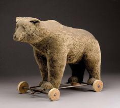 BEAR on wheel by Steiff, 1930 - lovely posture!