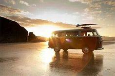 VW sunset - the kind of photo the VW bus should star in.