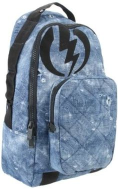 Electric Backpack,Denim,One Size