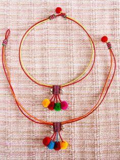 Lisu Pompom Necklace/ Ethnic / Hippie / by CHEZMOIMYHOME on Etsy, $10.00