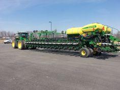 John Deere 9360R & DB90-36 row corn planter