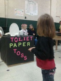 redneck games..toilet paper toss