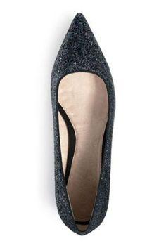Next black glitter point shoes, £35
