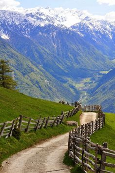 Spring in the Alps, Südtirol, Austria-our cycle trip path Places Around The World, The Places Youll Go, Places To See, Around The Worlds, Belle Photo, Beautiful Landscapes, Wonders Of The World, Places To Travel, Beautiful Places