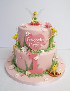 Tinkerbell Birthday Cake by Amanda's Cakes Mexborough, via Flickr