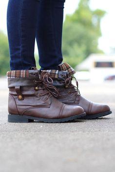 Lagos Combat Boots {Brown} - The Fair Lady Boutique - 1