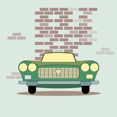 classic car vector illustration by ragdoll art - vintage flat design
