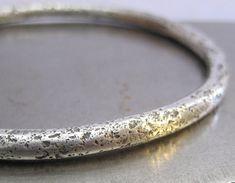 Chunky Wabi Sabi Sterling Silver Bangle Bracelet on Etsy, $234.97 AUD