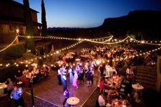 Lights strung above= ambiance perfection! Superstition Mountain Golf Club, Radiant Photography