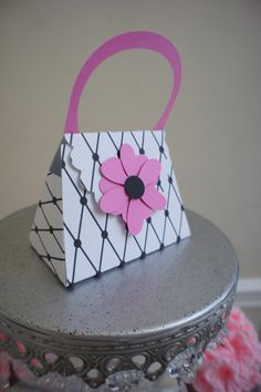 Set of 12- Purse Favor Boxes by Paper Candee. $39.00, via Etsy.