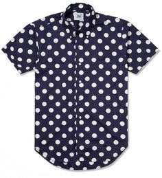 #thingsmymanwouldhavetohave    Mark McNairy Navy With White Dot SS Big Dot BD Shirt