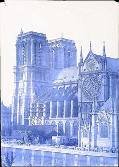 A Cathedral That Defined a City: 20 Rare Photographs of Notre Dame From the Century ~ vintage everyday Notre Dame France, Grafik Art, Paris Images, Sacred Architecture, Architectural Section, Detailed Drawings, Vintage Paris, Art Sketches, Amazing Art