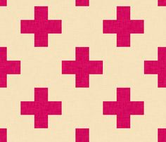 plus_one_magenta fabric by holli_zollinger on Spoonflower - custom fabric