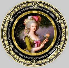 Royal Vienna  Porcelain (Austria)    —   Portrait Plate 'Marie-Antoinette with the Rose', 19th Century (700x694)