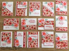 card making ideas cardmaking inspiration Tania Johnson : Stamp Haven: Painted Seasons - One Sheet Wonder Ideas Scrapbook, Scrapbook Sketches, Scrapbook Stamping, Handmade Scrapbook, Poppy Cards, One Sheet Wonder, Card Making Techniques, Stamping Up Cards, Card Patterns