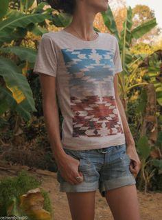 Womens Hipster Navajo Desert Graphic Skinny T Shirt Hippie Navajo Indie Skater