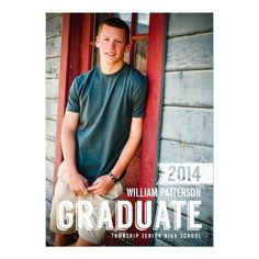 Bold Grad Guy Photo Graduation Custom Photo Party Invitation  Customize this Stylish Graduation Party Invitation with a custom photo. Fresh and clean modern look, perfect for announcing this happy occasion for a guy.  #invites #invite #invitation #invitations #custom #template #templates #customize #customizable #personalized #personalize #stylish #design #professional #affordable #contemporary #chic #trend #trendy #white #photo #addphoto #clean #fresh #white