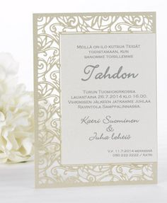 Valentina, kutsukortti Now and Forever Craft Wedding, Wedding Tips, Dream Wedding, Wedding Invitation Paper, Invitation Cards, Now And Forever, Cut And Style, Paper Goods, Big Day