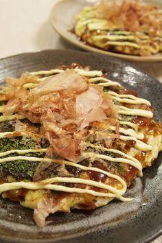 ♪ fluffy Kansai okonomiyaki in cabbage and yam