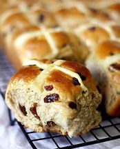 Hot Cross Buns - best straight from the oven!