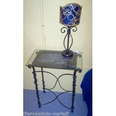 Bedside Table Wrought Iron. Customize Realizations. 879 Bedside, Wrought Iron, Table, Furniture, Home Decor, Interior Design, Home Interior Design, Desk, Tabletop