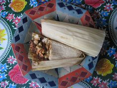 Roasted Vegetable Mole Tamales