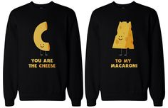 Mac and Cheese BFF Sweatshirts from Soramee. Saved to BFF Matching Sweatshirt/Hoodies. Best Friend Matching Shirts, Best Friend T Shirts, Bff Shirts, Best Friend Outfits, Couple Tshirts, Couple Outfits, Cute Shirts, Matching Shirts For Couples, Matching Hoodies