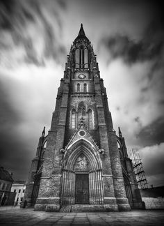 the church of st peter and st paul in osijek, croatia. Hdr Photography, Artistic Photography, St Peter And Paul, Church Architecture, Macedonia, Winter Garden, Albania, Slovenia, Croatia