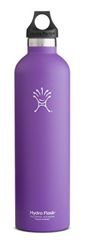 Hydro Flask Insulated Stainless Steel Water Bottle Narrow Mouth 24Ounce Acai Purple >>> You can get additional details at the image link. This is an Amazon Affiliate links.