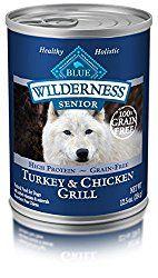 Blue Buffalo Wilderness Senior Turkey & Chicken – Grain Free 12.5 oz, Pack of 12