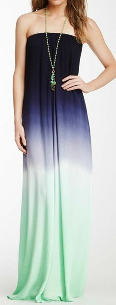 Purple + Mint Ombre Maxi