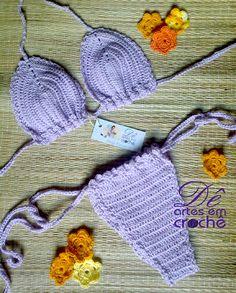 Biquíni em Crochê, feito em linha de algodão de excelente qualidade, sutiã SEM BOJO. <br>*MODELO FIO DENTAL <br>Faço em cores diversas, e nos tamanhos PP36, P38, M40, M42, G44 e GG46. Ao realizar o pedido informe o tamanho e a cor que deseja. <br> <br>Informação da Loja: <br>1) O prazo para produção é contado em dias úteis; <br>2) Só consideramos um pedido confirmado após o pagamento; <br>3) Sempre leia a Política da Loja antes de efetuar uma compra, pois a partir do momento da confirmação…