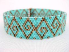 Peyote Pattern - Swirls - INSTANT DOWNLOAD PDF - Peyote Stitch Bracelet Pattern by MadeByKatarina on Etsy https://www.etsy.com/listing/130552071/peyote-pattern-swirls-instant-download