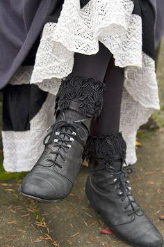 fun Lace Knee High Bootsock
